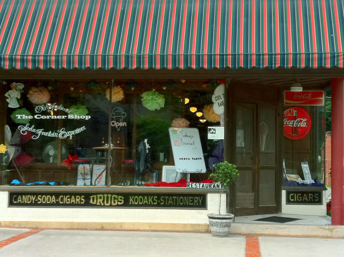 4) The Corner Shop, located in Bramwell, WV, is an old-fashioned style diner restaurant.