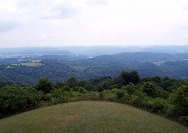 8) The lookout at Droop Mountain Battlefield State Park, located in Hillsboro, WV.