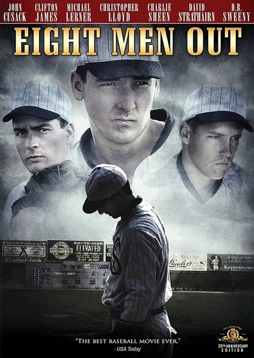 8) Eight Men Out: This version of the Chicago White Sox scandal was partially shot in Cincinnati.