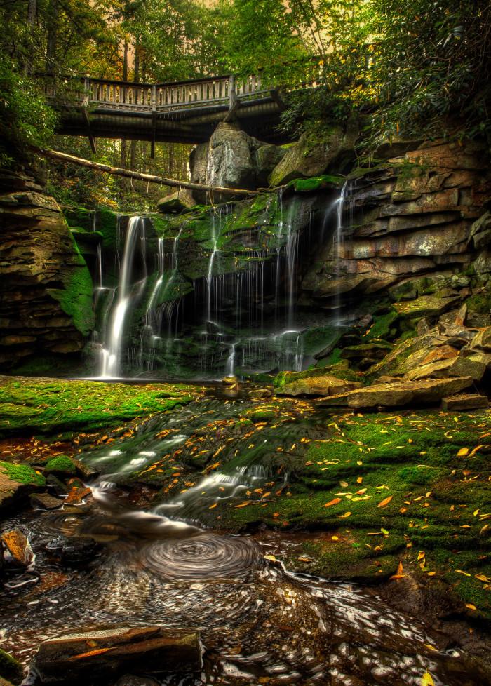 5) Elakala Falls, located in Blackwater Falls State Park in Davis, WV.
