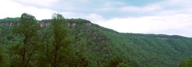 4) The Endless Wall trail is a cliff line that follows the New River Gorge for two miles.