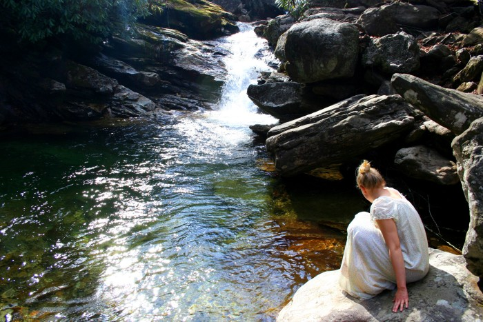 4. Meander a bit off the Blue Ridge and you'll find Skinny Dip Falls. A beautiful, hidden gem perfect for swimming on a warm summer day.