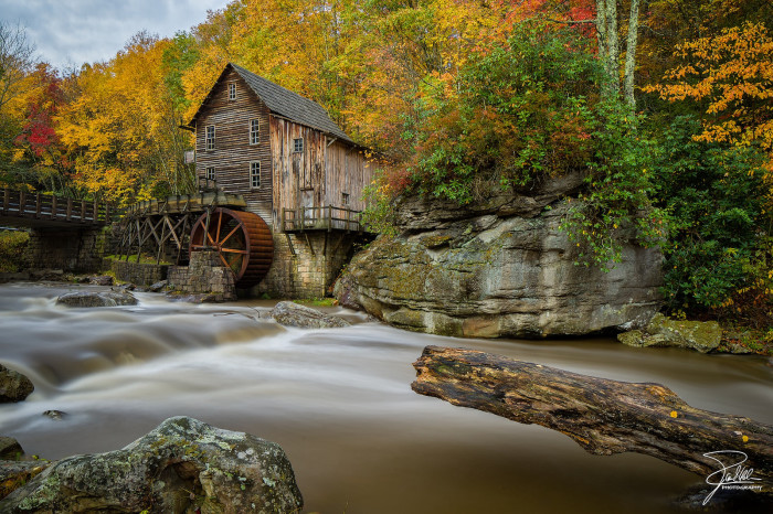 2) Pictured here is the Glade Creek Mill at Babcock State Park, located in Clifftop, WV.