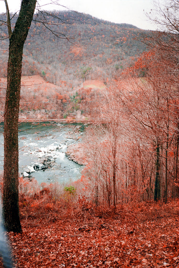 8) The Guyandotte River is in the neighborhood of 166 miles long. Look at those amazing fall colors along this beautiful river!