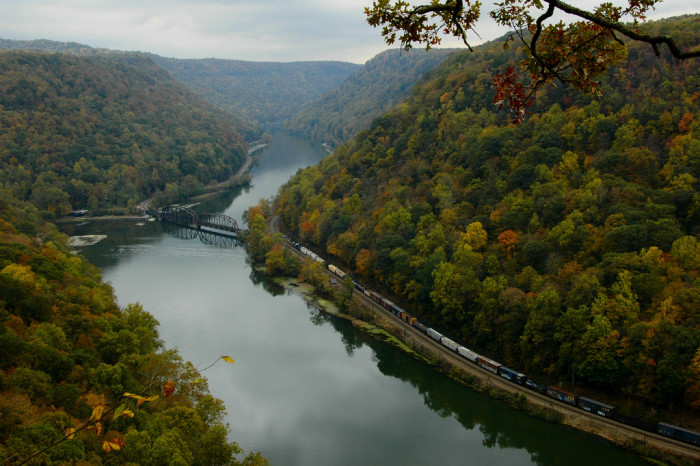 11) One of West Virginia's most famous picture-perfect locations, Hawk's Nest State Park, located in Ansted,WV.