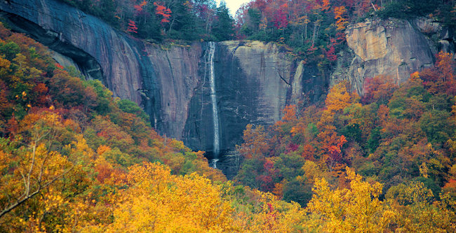 9. Hickory Nut Falls, Chimney Rock