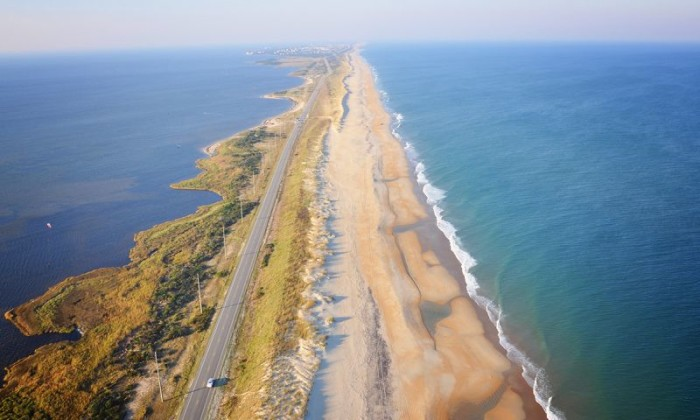 11. It's a real two-for-one on the Outer Banks Scenic Byway. Enjoy beautiful views of the Atlantic Ocean on one side and the Pamilico sound on the other.