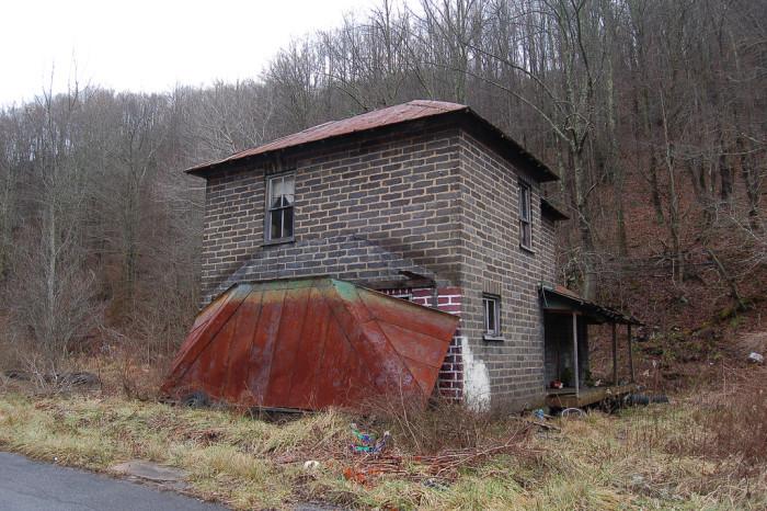 9) This forgotten building is located in Jenkins Jones, West Virginia.