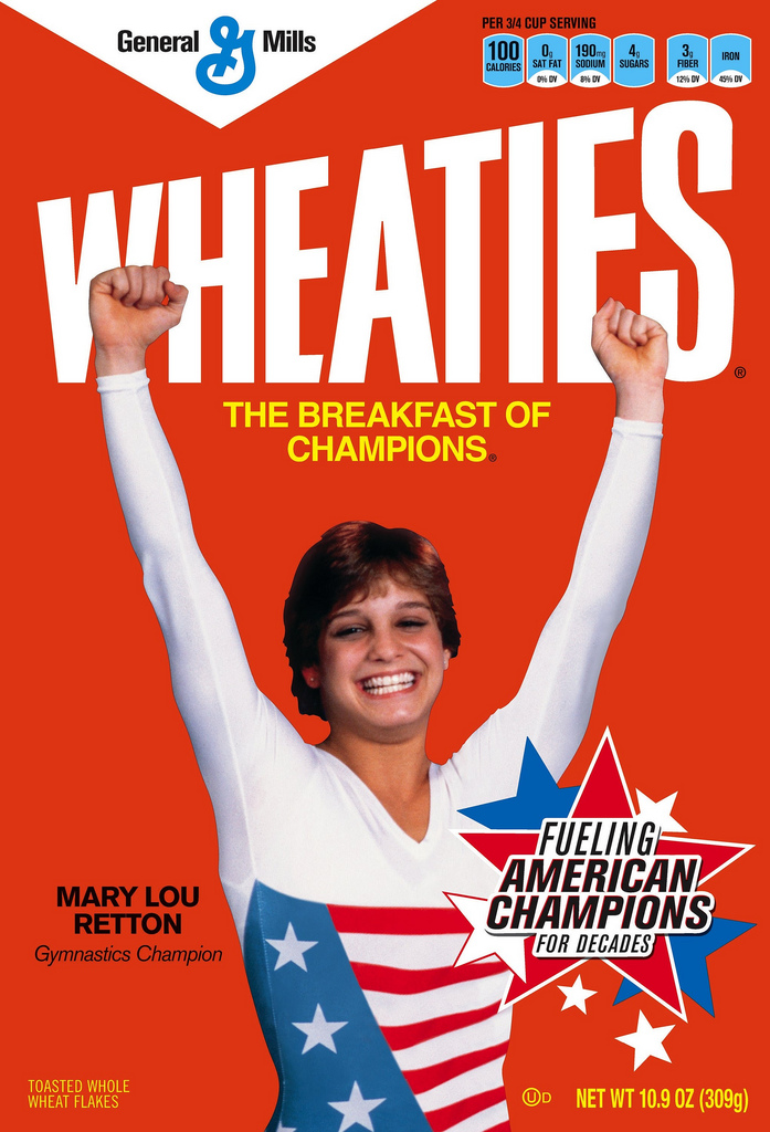 12) Mary Lou Retton, born in Fairmont, West Virginia, is a popular American athlete.