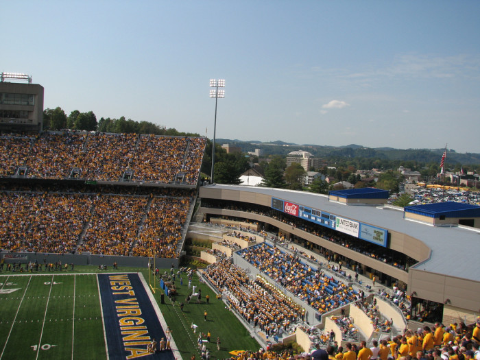 This wouldn't really be about West Virginia if I didn't mention the West Virginia University Mountaineers. The Milan Puskar Stadium is located in Morgantown, WV.