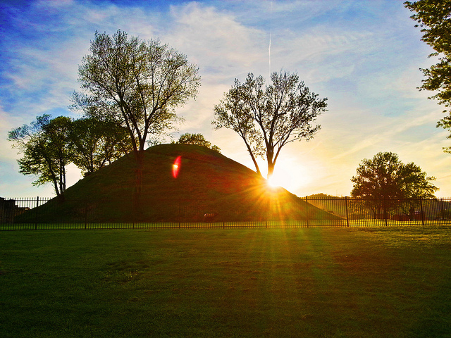 While the town of Moundsville is not completely breathtaking, it is completely packed with history. Pictured here is an Indian Burial Mound. While the grounds at the mounds are gorgeous, there is so much more to do than just take in the beauty.