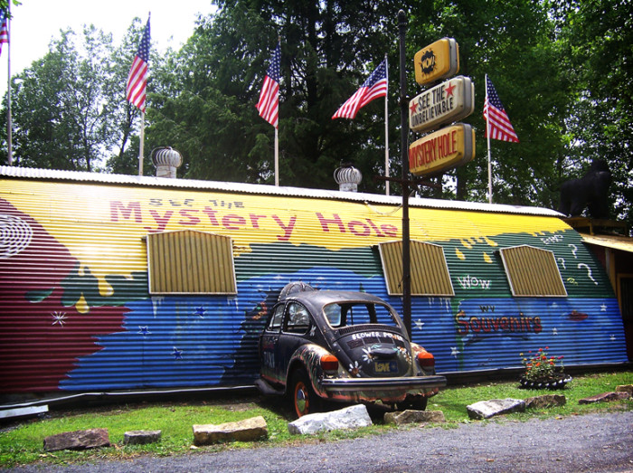 3) The Mystery Hole, located in Ansted, WV, is an attraction that brings in guests both young and old.