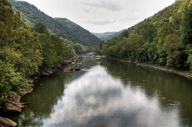 12) The New River, which is most famous for the vehicular bridge over top of it, flows for about 320 miles through North Carolina, Virginia, and West Virginia.