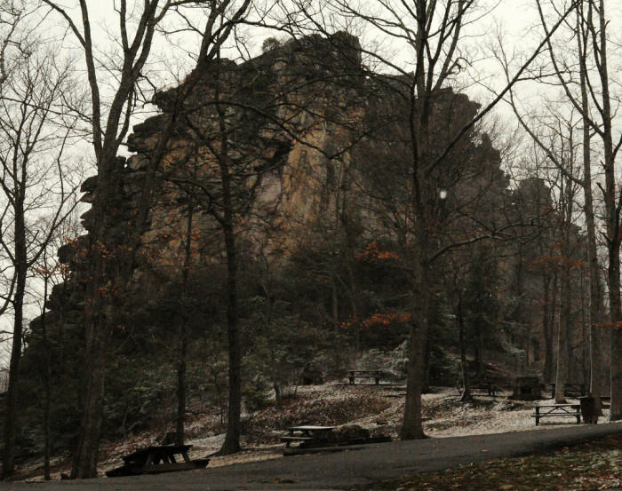 13) Pinnacle Rock, surrounded by Pinnacle Rock State Park, is located in Mercer County, WV.