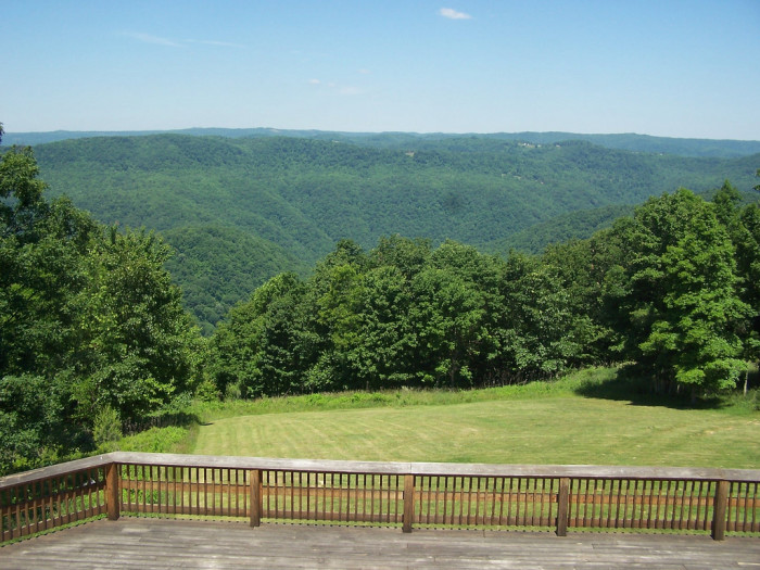 14) The lookout at Pipestem Resort and State Park, located in Pipestem, WV.