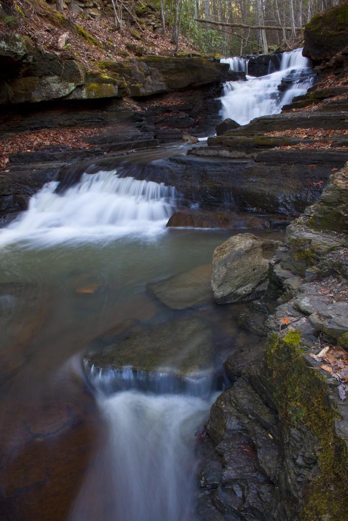 8) Pipestem Falls, located in Pipestem, WV.