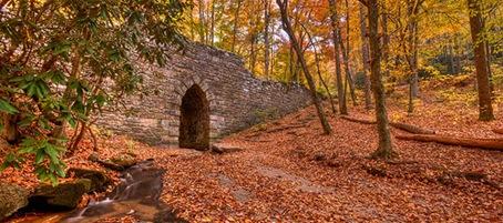 12) Poinsett Bridge near Traveler's Rest, SC:  The oldest bridge in South Carolina.