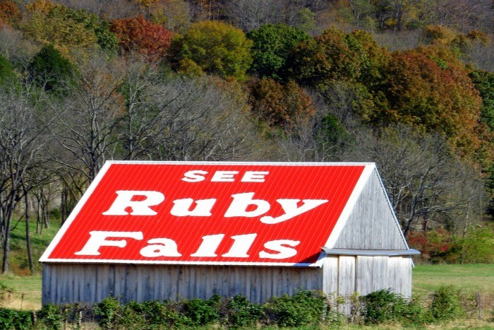 16) Why settle for the blasé above ground waterfall when you can head beneath the surface? Ruby Falls rushes 1,120 feet below ground in Chattanooga and is sure to make you gasp in awe.