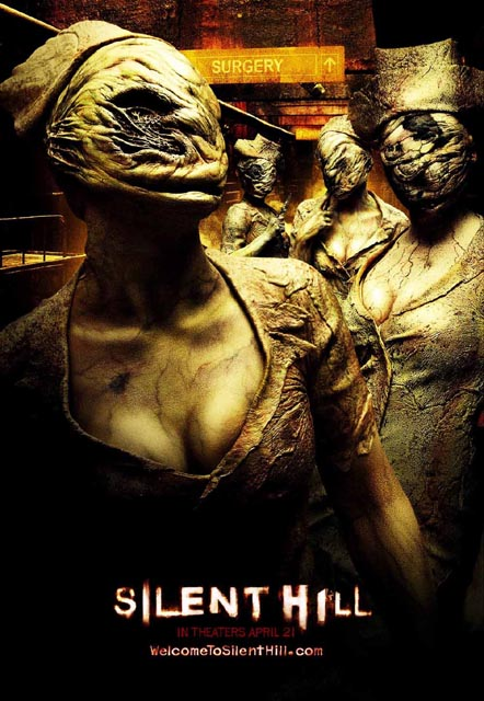 1) Silent Hill. This horror movie follows Rose who takes her adopted daughter, Sharon, to the town of Silent Hill, the place that Sharon keeps talking about while sleepwalking.