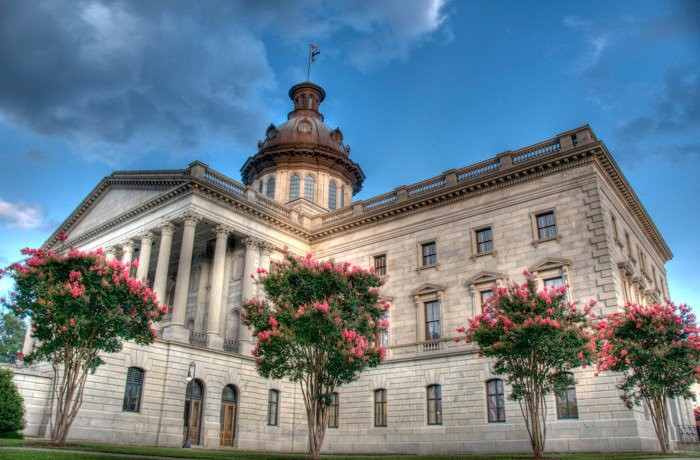 15) The State House in Columbia, SC: Built entirely out of blue granite, this building is completely fireproof.