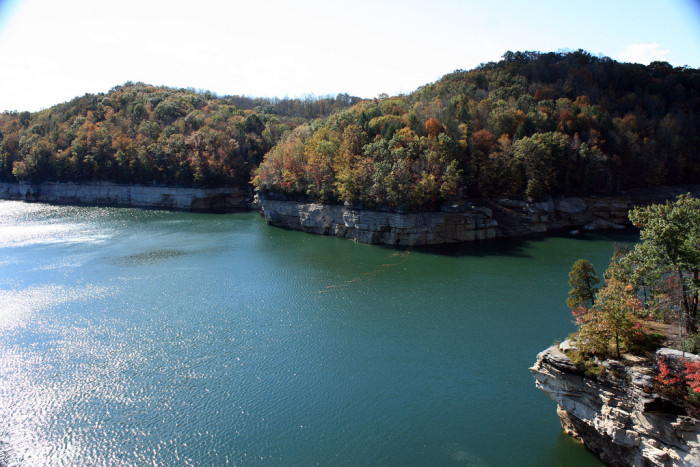 2) Summersville Lake, located in Nicholas County, WV, is so beautiful! It's ideal for swimming and soaking up some sun in the summer time.