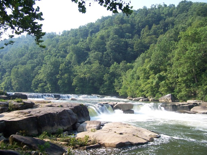 15) The Valley Falls along the Tygart Valley River, which is a tributary of the Monogahela River.