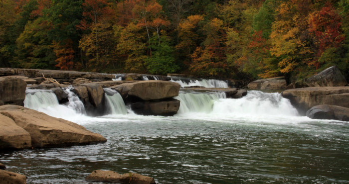 14) Valley Falls State Park is located just outside of Fairmont, WV.
