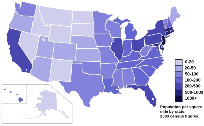 19. Half the US population lives within a 500 mile radius of Virginia.