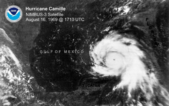 1. Hurricane Camille Flooding in Nelson County, 1969