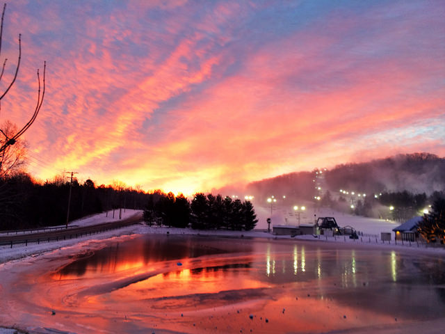 10. Dawn in Fairfield is greeted with an explosion of color.