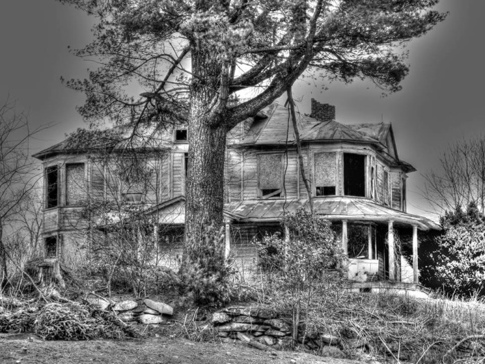 8. A beautiful, ghostly decay overtakes this old house in Alleghany County.