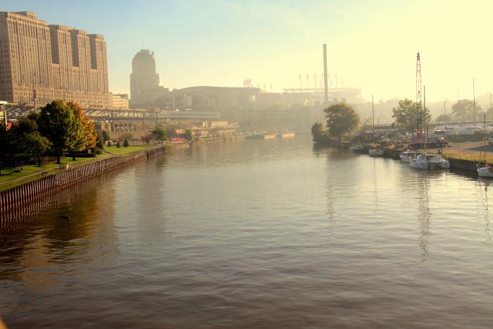 5) Cuyahoga River Fire