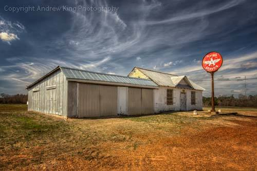 4. A simple old service station sits in the middle of nowhere in Wilson County. Whisking clouds add to the dreamlike setting of this picture.