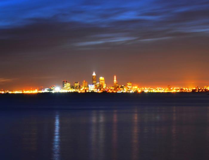5) Cleveland skyline