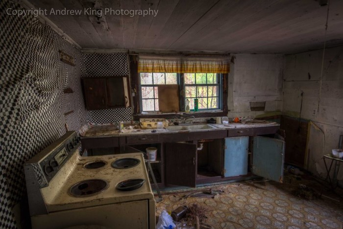 """17. A bit behind the times, or as photographer Andrew King says, """"Modern kitchen in need of some elbow grease."""""""