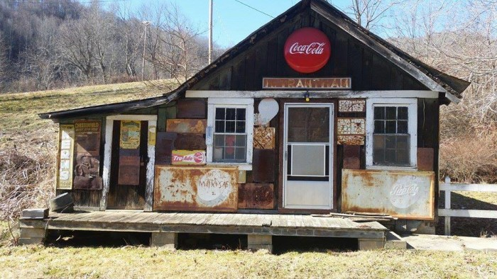 6. A one stop shop now leans to the side as weather and time have made their mark on the Old Trantham Store in Haywood County