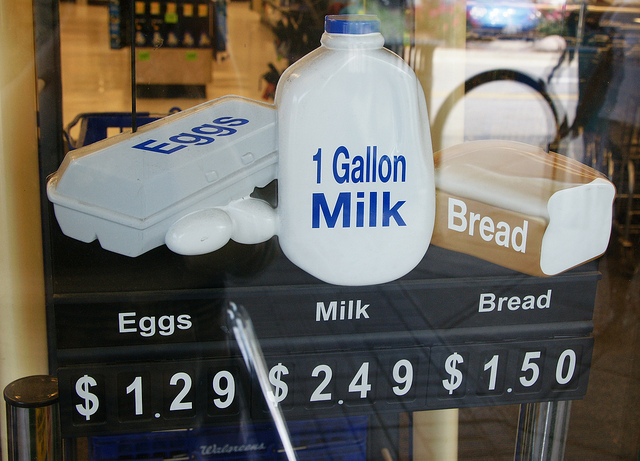 11. When snow is in the forecast, you better get your milk and bread before everyone else does.