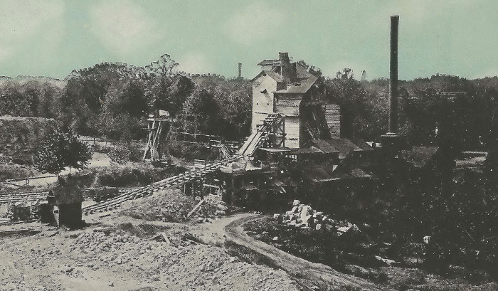 2) Circa 1920s: (Greenfield) The Rucker Stone Company Greenfield Works, founded in 1854.