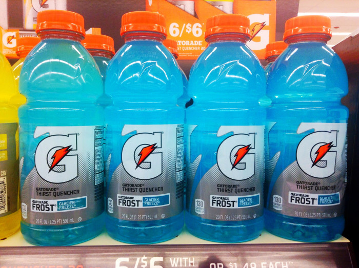 7. When you're sick, they'll insist you drink lots of Gatorade. Electrolytes, y'all.