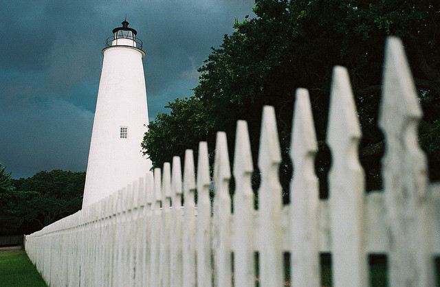6. Just south, visit the original trendsetter of NC lighthouses, Ocracoke Lighthouse