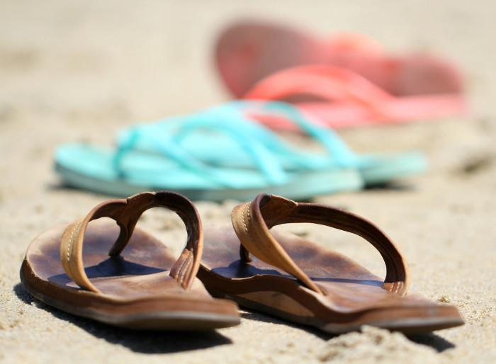 15. We own other kinds of footwear besides flip flops.