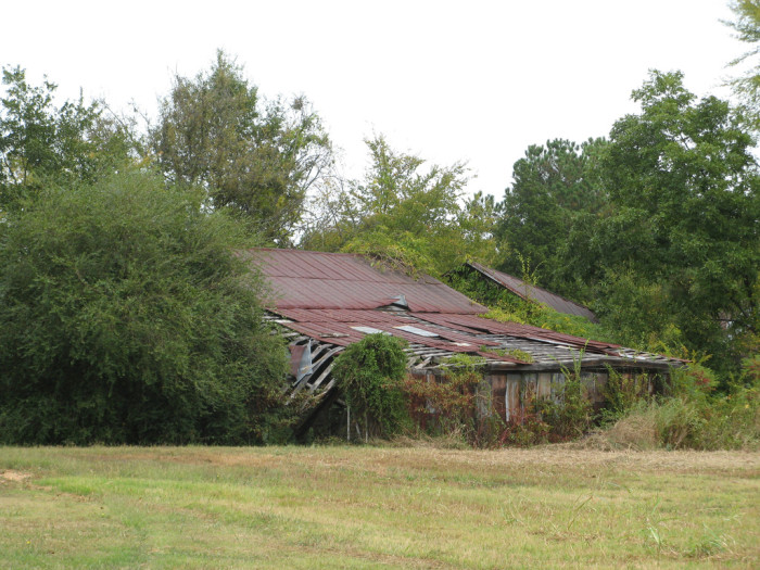 3. Old and abandoned, a barn barely stands now in Newberry, SC.