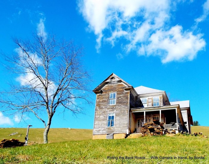 14. A bright blue sky reflecting on the glass windows breathes life into this still image. It's as if we're right there in Alleghany County taking in the beautiful abandonment with photographer Bonita.
