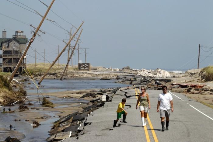 4. Hurricane Irene took its tole on Rodanthe.