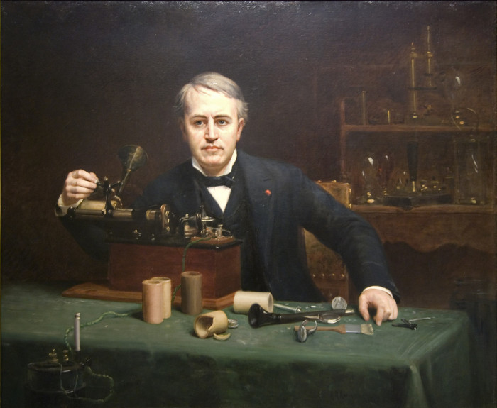 1) Thomas Edison: Because without him we'd all be in the dark.
