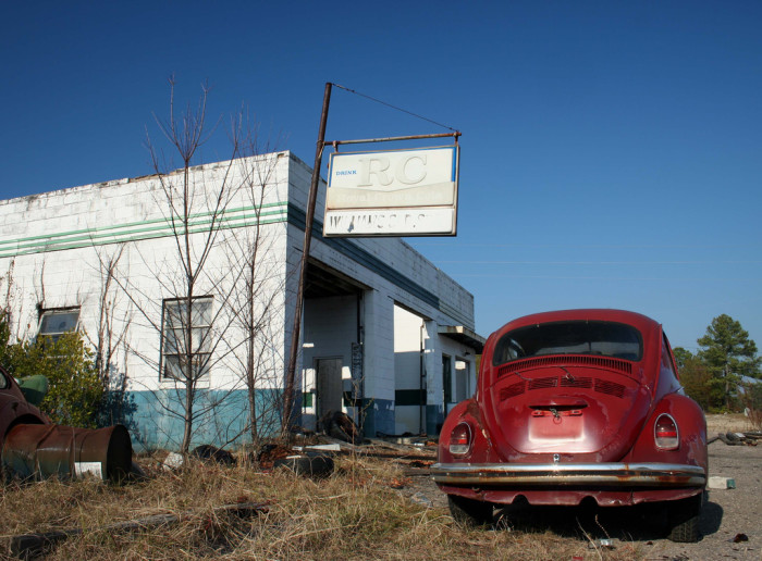 4. Once a thriving business, this old garage is slowly crumbling. Edgefield County, SC.