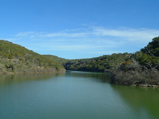 12) Lake Buchanan located on the Colorado River in Burnet and Llano County.