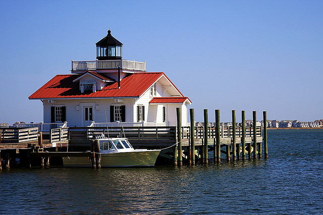 3. Just a little ways southeast is another screw-pile lighthouse in Manteo