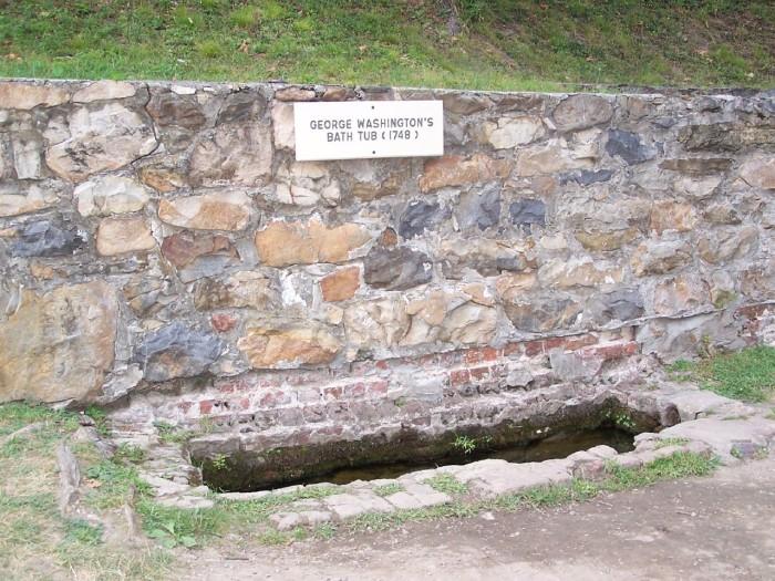 14) George Washington's bathtub is located in Berkeley Springs, WV.