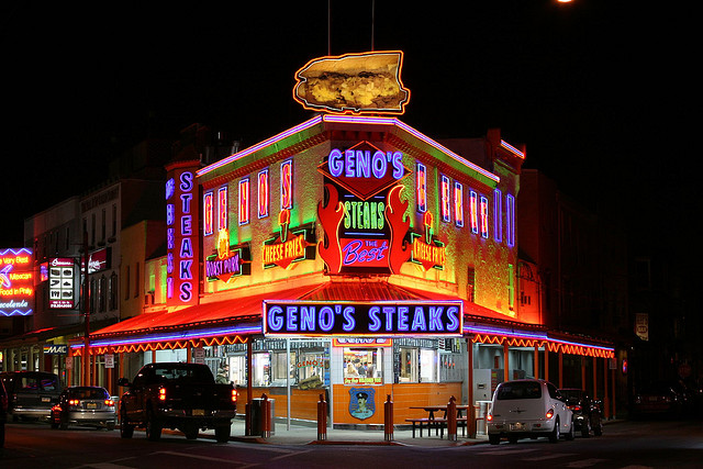2. There's nothing better than a Philly cheesesteak, though whether Pat's or Geno's is superior is an ongoing debate. (There's also the eternal underdog, Jim's.)